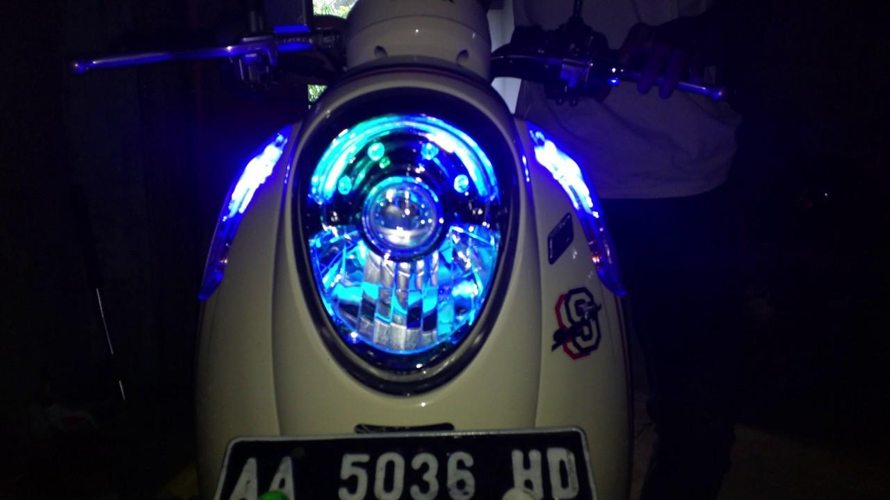 94 Modifikasi Lampu Motor Scoopy Terbaru Kumbara Modif