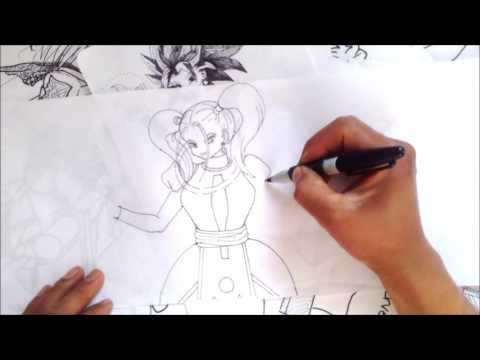 Dibuja a MARCARITA LA INCOMODA HERMANA DE WISS Y VADOS DE DRAGON BALL SUPER XDEIOS