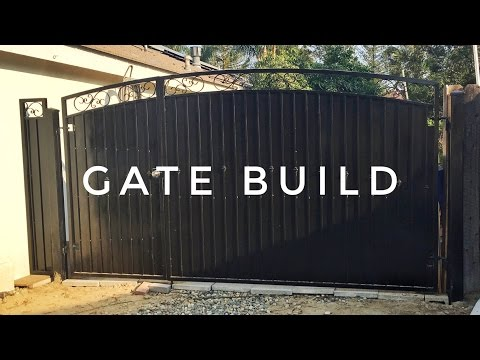 Building a Wrought Iron (steel) Gate