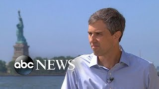 Beto O'Rourke visits historic Ellis Island for 1st time | ABC News