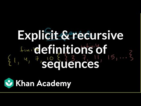 Explicit and recursive definitions of sequences | Precalculus | Khan Academy