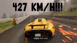 The Crew 2 - Koenigsegg Regera 2015 | TOP SPEED 427 KMH (PC HD) [1080p60FPS]