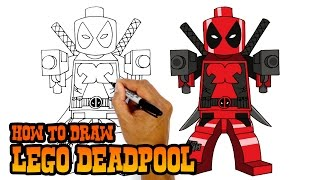 How to Draw Lego Deadpool | Drawing Lesson