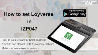 Issyzonepos how to set izp047 loyverse pos app