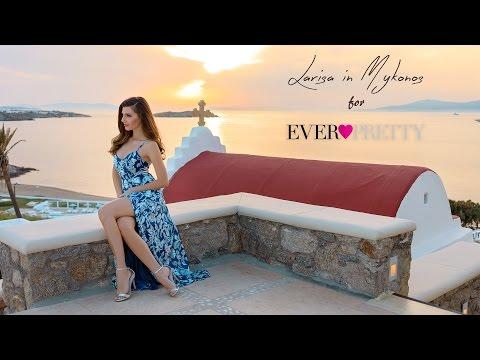 Larisa Costea for Ever Pretty in Mykonos
