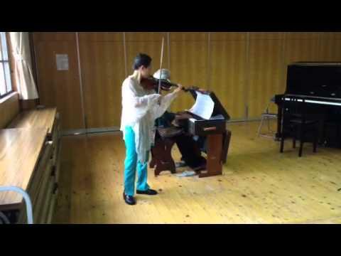 劉薇ヴァイオリンとリードオルガンの演奏 「牧歌」