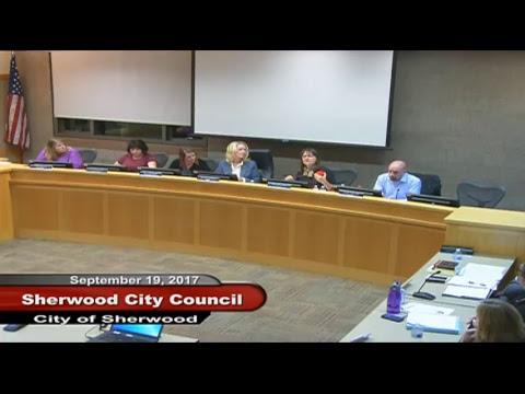 Sherwood City Council - September 19, 2017