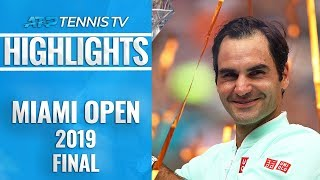 Roger Federer Dominates John Isner To Win 101st Career Title | Miami Open 2019 Final Highlights