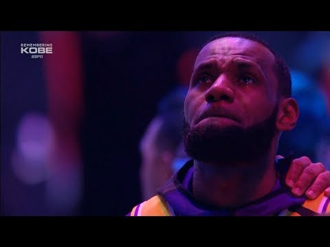 LeBron James & Quinn Cook in Tears During National Anthem - Lakers vs Blazers  | January 31, 2020