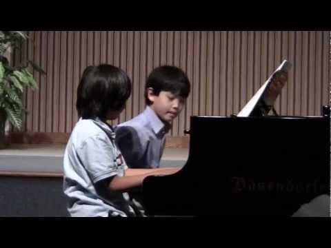 March 2012 Alex Gupta and Brandon Perform Simple Gifts duet