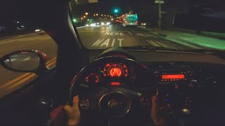 Fiat 500 Abarth (Manual) - POV Night Drive