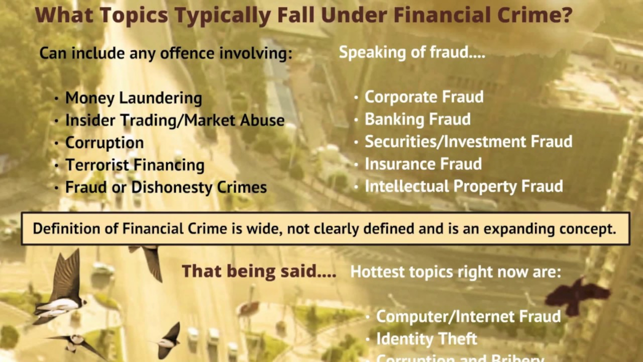 An Introduction To Financial Crime