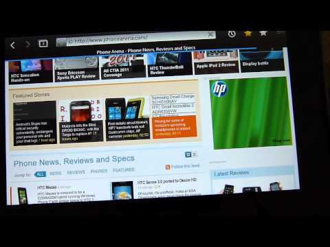BlackBerry PlayBook Web Browsing Demonstration