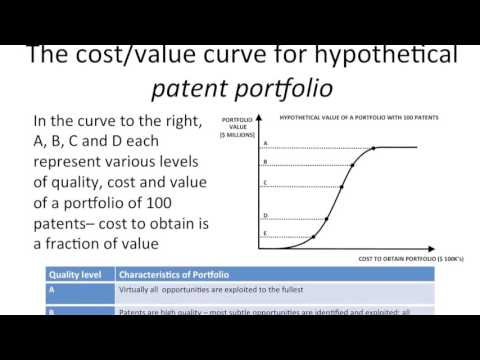 What is the cost/value curve of a patent portfolio?