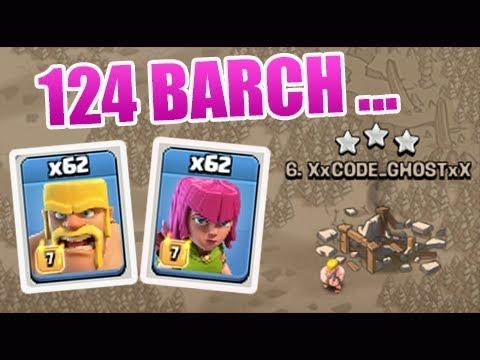 Run Now 124 Barbarian Archer TH11 3 Star Attacks Clash of Clans