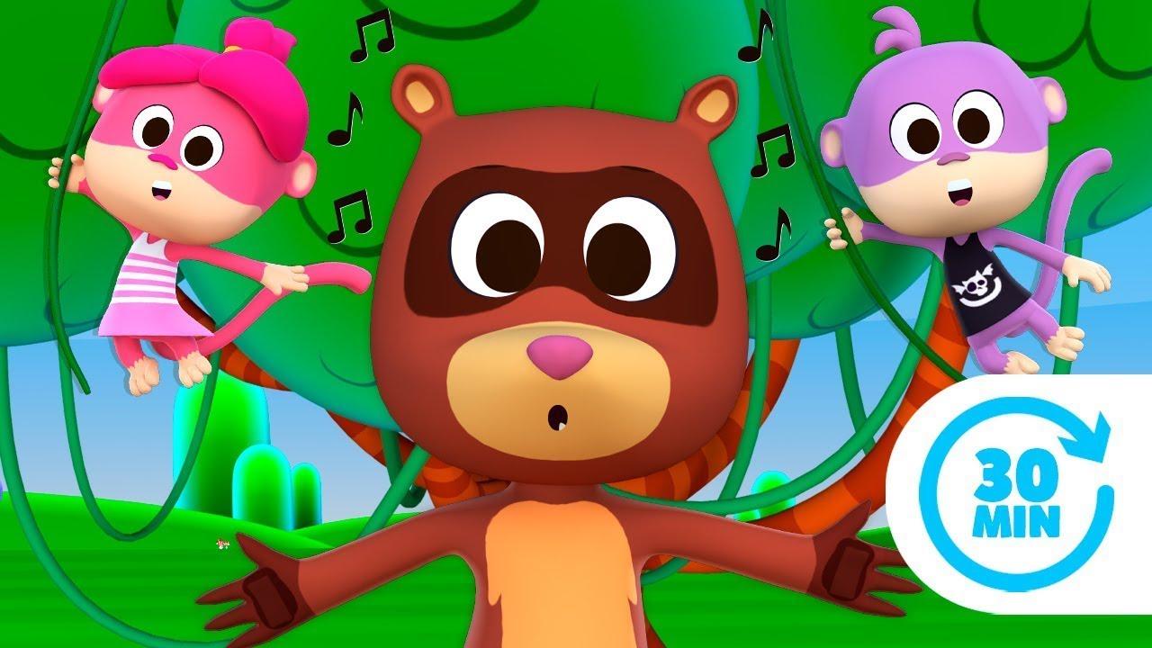 Silba El Hurón Contento y Más Canciones Infantiles del Zoo | El Reino Infantil