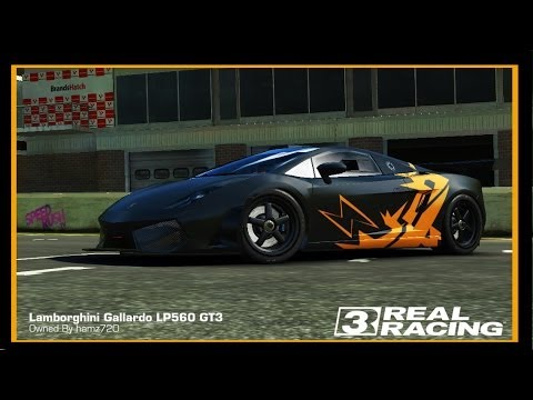 Real Racing 3   CUSTOM PAINT JOB   LAMBORGHINI GALLARDO LP560 GT3