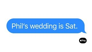 Apple Pay - Just text them the money - Wedding