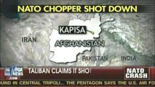 Taliban Shoots Down NATO Helicopter In Afghanistan.