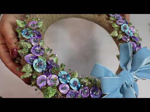 Creating a Beaded Wreath with Polymer Clay Beads  DIY Home Decor