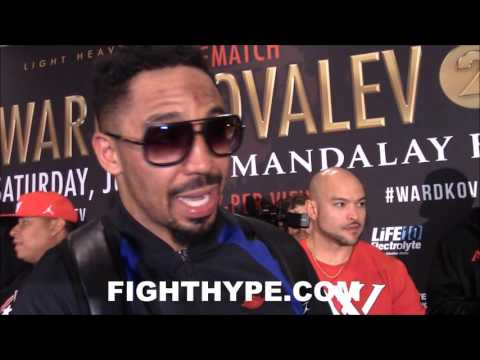 "ANDRE WARD KEEPS IT CLASSY AND GIVES KOVALEV HIS RESPECT DESPITE EXCUSES AND ""SORE LOSER"" MENTALITY"