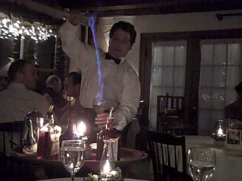 1785 Inn & Restaurant Flaming Drink