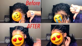 HAIR HACK ! How To Save Over Plucked Frontal | ISEE Hair