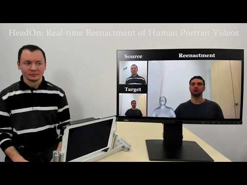 HeadOn: Real-time Reenactment of Human Portrait Videos - SIGGRAPH 2018
