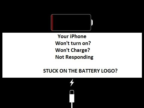 why iphone wont charge how to fix iphone stuck at battery logo 16501