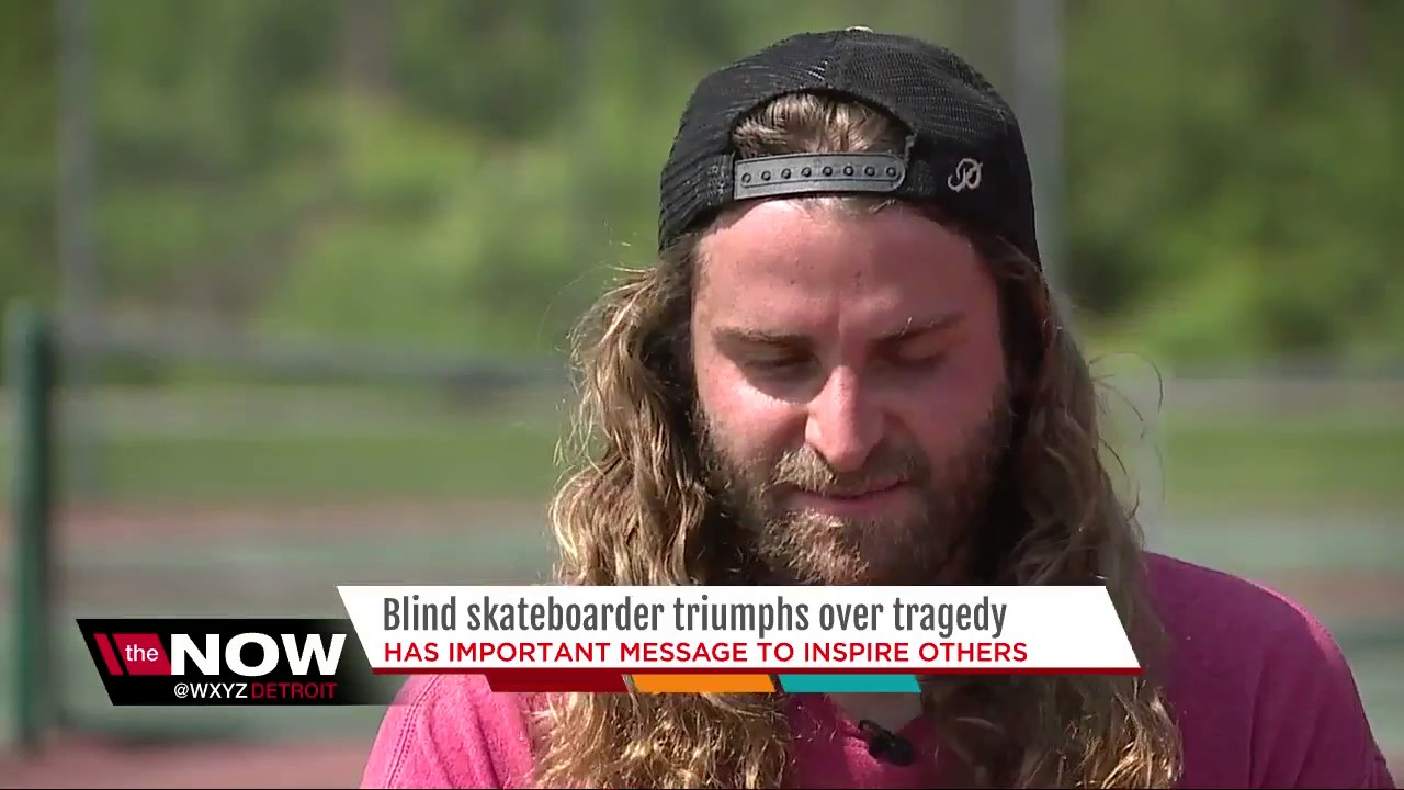 Blind skateboarder triumphs over tragedy