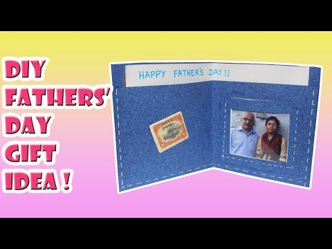 DIY Fathers' Day Gift Idea - Wallet Greeting Card | Saminspire