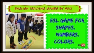 179 - ESL activity for Shapes/numbers/colors | English teaching games by Muxi |
