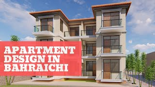 Apartment Design in Bahraichi | Small Apartment | Exterior Facade Design