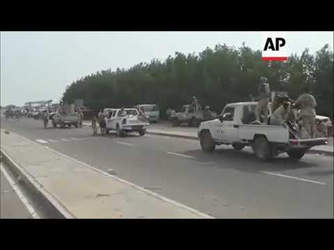 Convoy of vehicles approaches rebel-held Yemeni city of Hodeida
