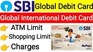 Sbi global debit card limit & charges | Sbi global international debit card