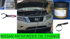 2013-2016 Nissan Pathfinder oil change. 10 min Oil and filter change. No tire removal