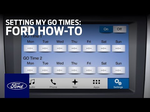 Ford Electric Vehicles: Setting My GO Times | Ford How-To | Ford