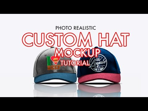 How to Design A Photorealistic Custom Hat/Cap Mockup in Photoshop | Tutorial