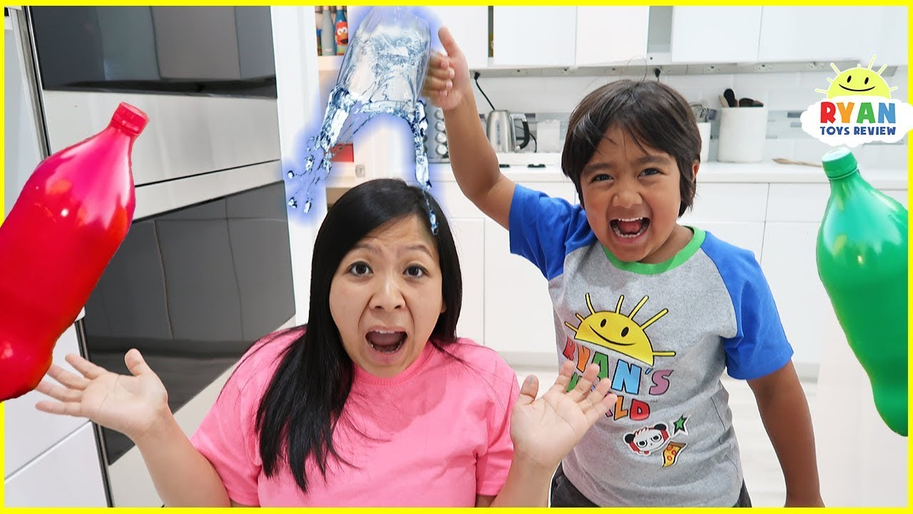Top 5 science experiments to do at home for Kids with Ryan ToysReview!!!