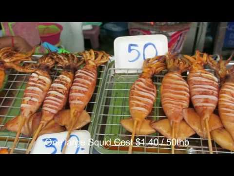Thai Grilled Squid – BBQ Squid – Thailand Street Food