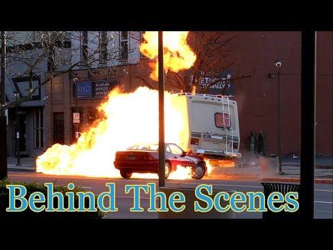 Movie Making Downtown Scranton Pa - Vehicle Explosion!