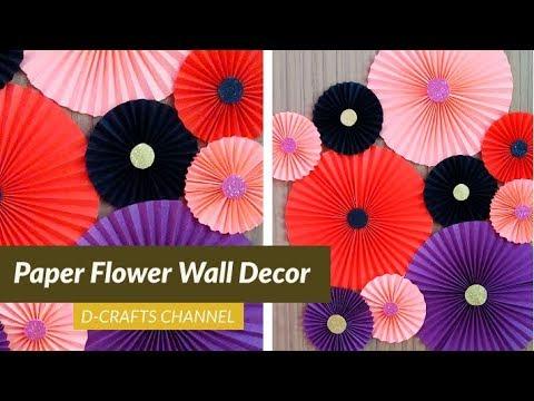 Paper Flowers Wall Decor | DIY Wall Art | Giant Paper Flower | Home Decor | Handcraft