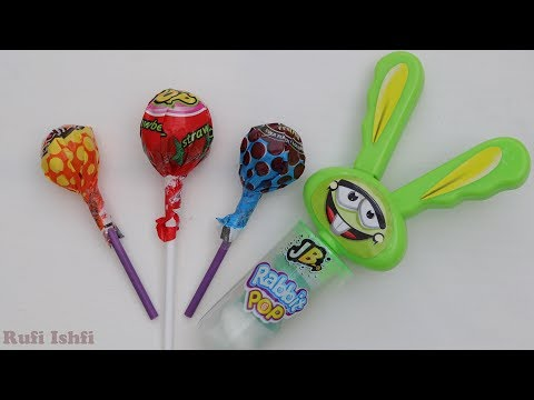 Learn Color with Rabbit Pop Candy and Lollipop unboxing from Rufi Ishfi