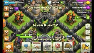 Visitei o clan mais top do clash of clans....(Seven push 2)