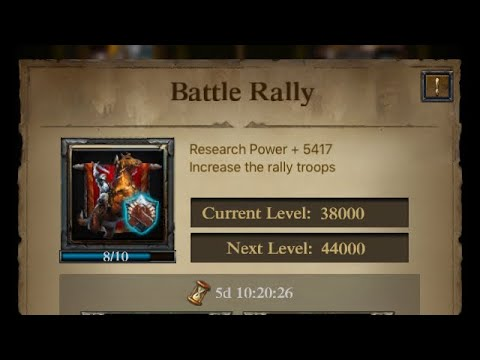 Clash Of Kings:Increase Rally Capacity Over 5million!Increase Hall Of War & Summon Forces To Destroy