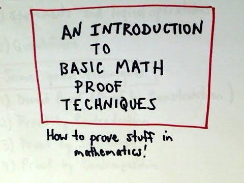 Introduction To Fundamental Math Proof Techniques