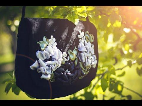 2016 г.Авторские сумки Сотниковой Жанны.Вышивка лентами. Фильм № 2