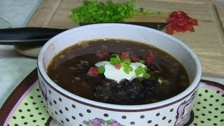 Black Bean Soup Video Recipe By Bhavna - Quick Healthy Recipes