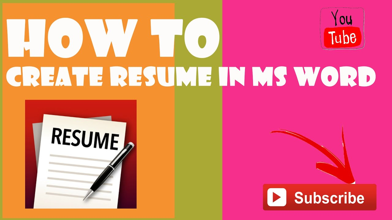 how to create resume in microsoft word 2013 youtube