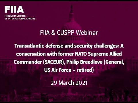 FIIA & CUSPP Webinar: Transatlantic defense and security challenges